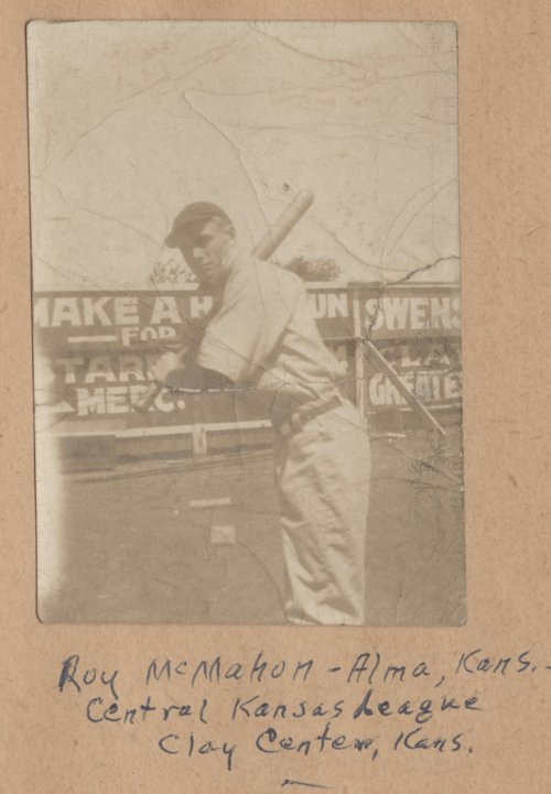 Roy McMahon of the Clay Center baseball team - Page