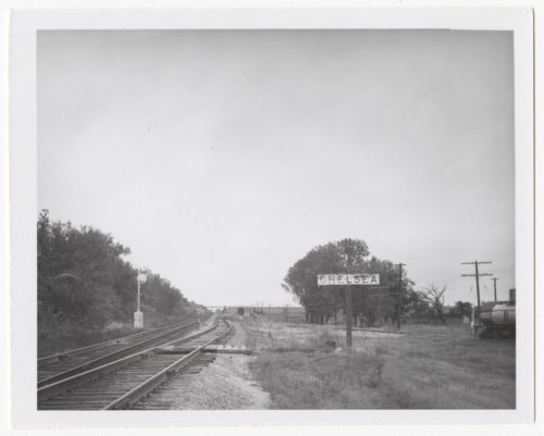 Atchison, Topeka and Santa Fe Railway Company sign board, Chelsea, Kansas - Page