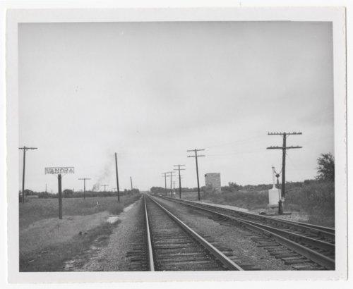 Atchison, Topeka & Santa Fe Railway Company's sign board, Vanora, Kansas - Page