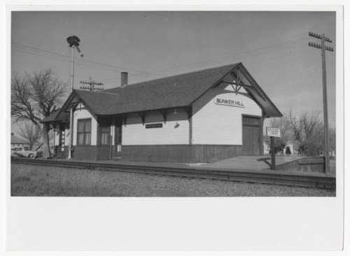 Union Pacific Railroad Company depot, Bunker Hill, Kansas - Page
