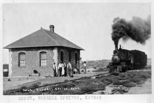 Colorado, Kansas & Oklahoma Railroad Company depot, Russell Springs, Kansas - Page