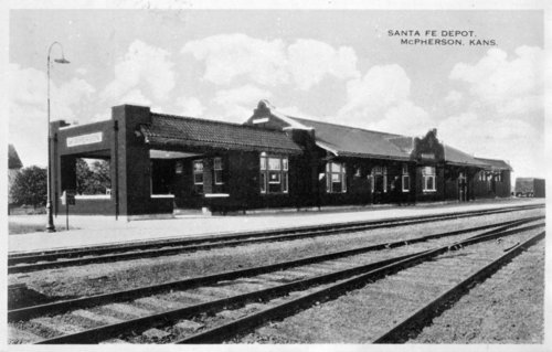 Atchison, Topeka and Santa Fe Railway Company depot, McPherson, Kansas - Page