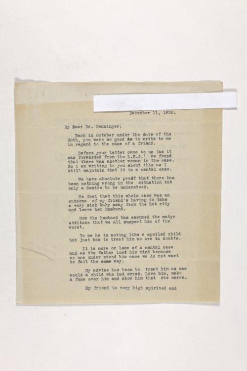 Dr. Karl Menninger Ladies Home Journal Letters 40-59 - Page