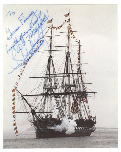 United States Ship Constitution photograph and certificate - Page