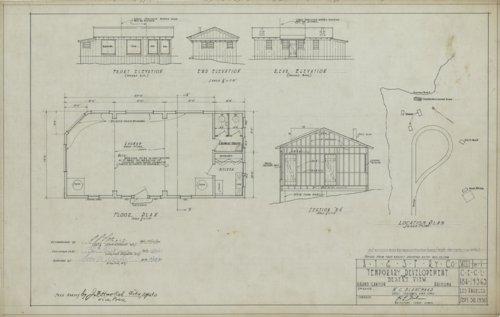 Atchison, Topeka & Santa Fe Railway Company's caretaker's house, Grand Canyon - Page