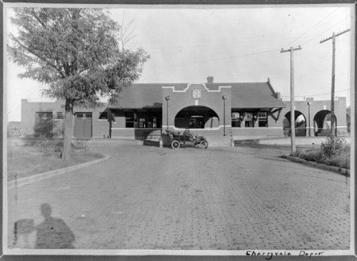 Atchison, Topeka & Santa Fe Railway Company depot, Cherryvale, Kansas - Page