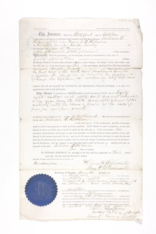 Mortgages from the James Stanley Emery Collection - Page