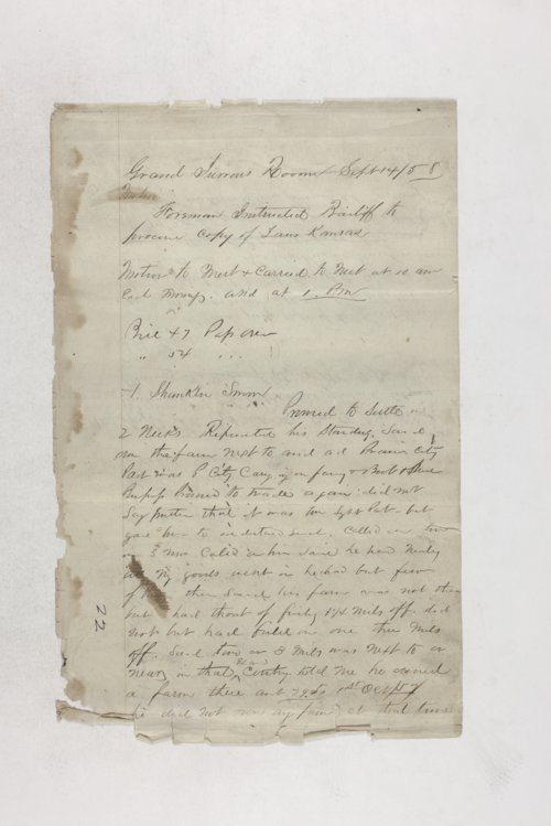 Memorandum, proceedings in grand jurors' room - Page