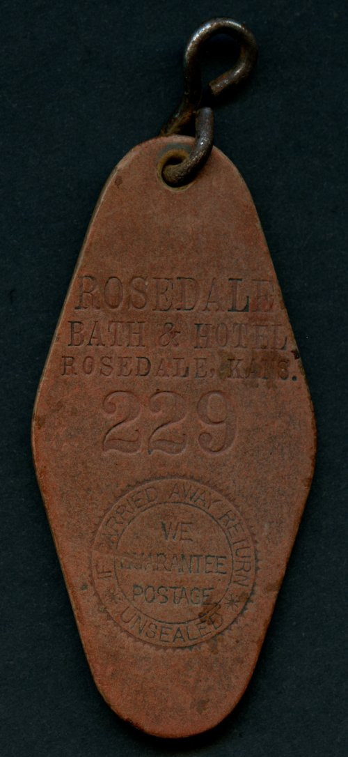 Rosedale Bath and Hotel bath key fob - Page