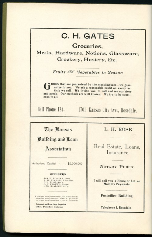 Mount Marty yearbook, 1910, Rosedale, Kansas - Page