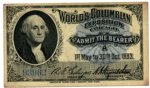 Admission ticket, World's Fair, Chicago - Page