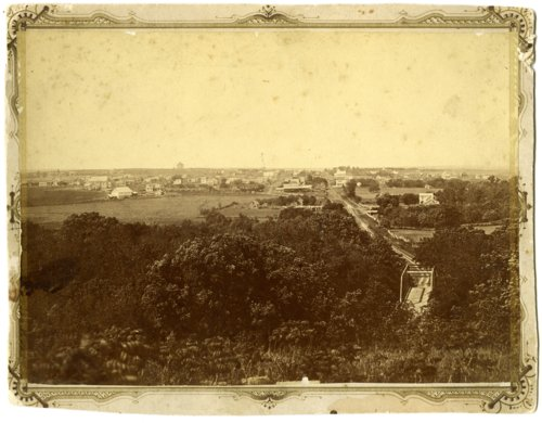 Birdseye view of Alma, Kansas, Louis Palenske