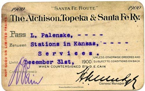 Atchison, Topeka & Santa Fe Railway pass - Page