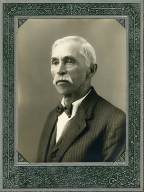 Portrait of August Palenske, Alma, Kansas - Page
