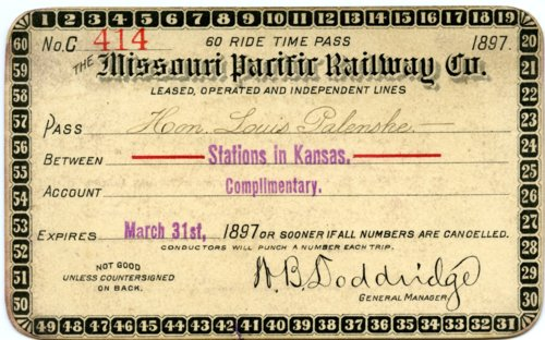 Missouri Pacific Railway Company Pass - Page