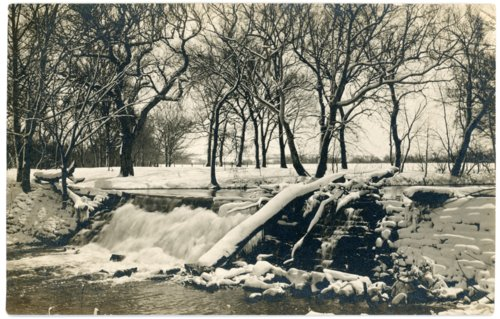 Photo of lower dam at Alma, Kansas Mill - Page