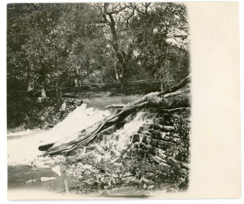 View of lower dam at Mid-Kansas Milling Company Mill at Alma - Page