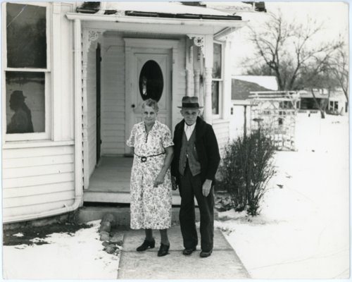 Louis and Emma Palenske at Alma home - Page