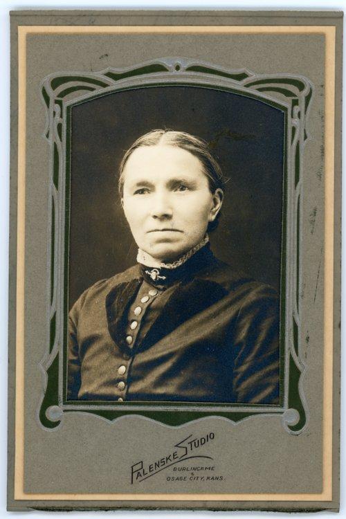 Studio portrait of Caroline Gongell Palenske - Page