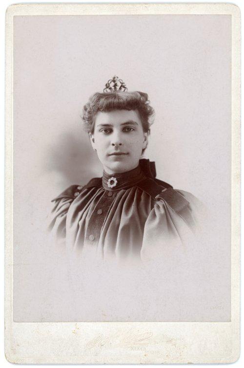 Studio portrait of Mary Meier, Alma, Kansas - Page