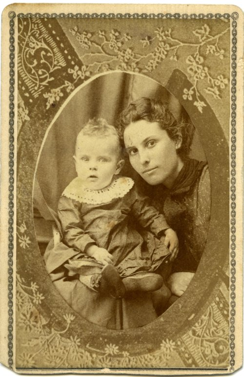 Studio portrait of Emma and Minnie Palenske - Page