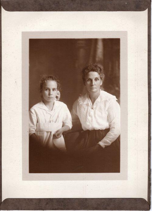 Studio portrait of Emma Palenske and Florence Palenske - Page