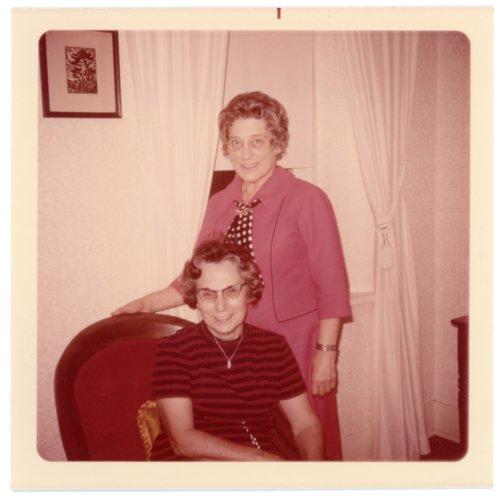 Florence Palenske Hallgren and Ada Sage Laverty at Alma, Kansas - Page