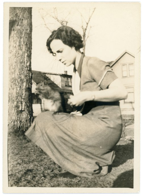 Florence Palenske With Pet Squirrel - Page