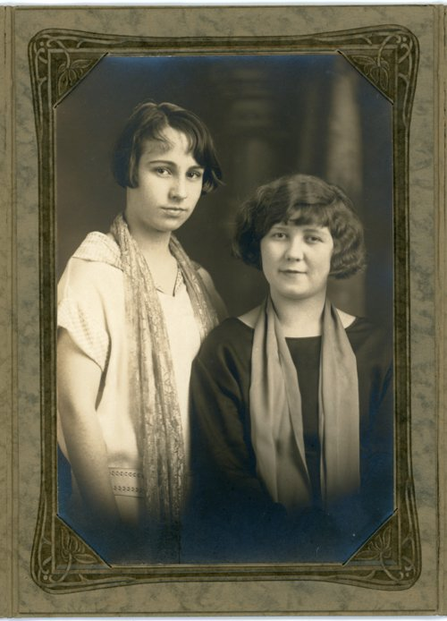 Studio portrait of Florence Palenske and Berniece Femmel - Page