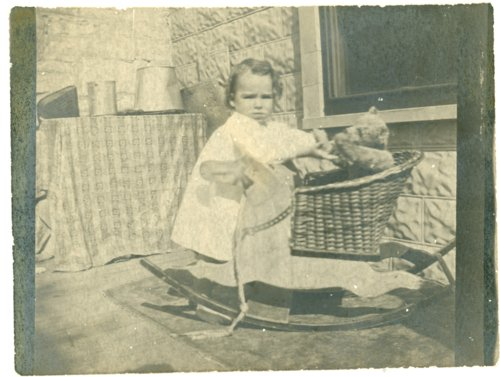 Florence Palenske With rocking horse - Page