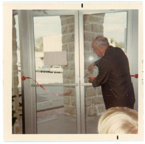 Fred Palenske Cuts Ribbon on Wabaunsee County Museum - Page