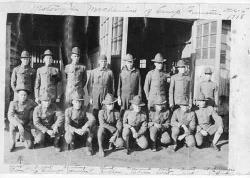 Motorcycle mechanics at Camp Funston, Kansas - Page