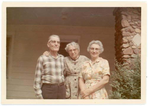 Martin and Minnie Zwanziger and Laura Palenske Stella at Alma, Kansas - Page
