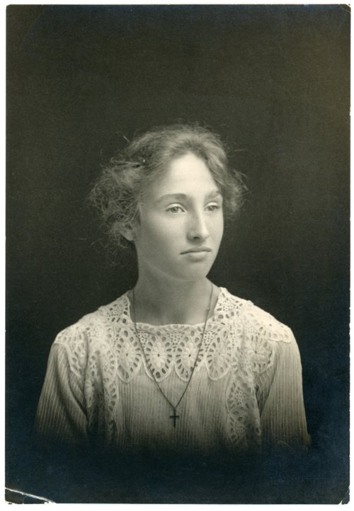 Studio portrait of Laura Palenske in High School - Page