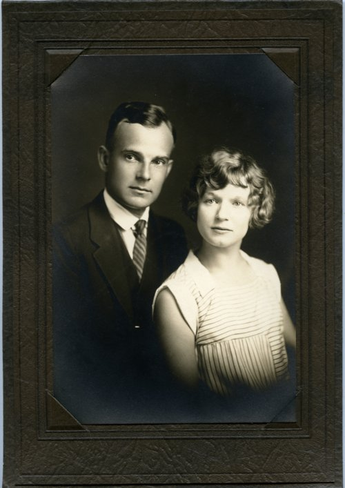 Studio portrait of Mr. and Mrs. Max Palenske - Page