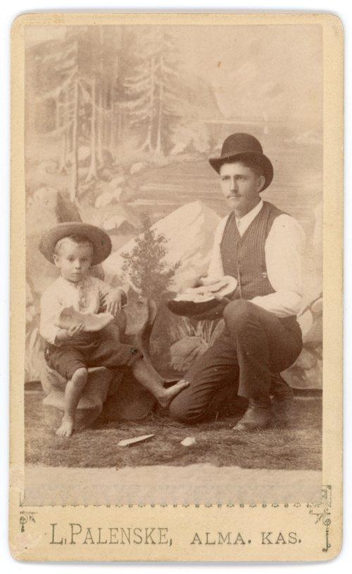 Studio portrait of Max Palenske and Gus Meier - Page