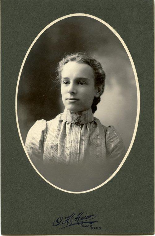 Cabinet card of Minnie Palenske Zwanziger - Page