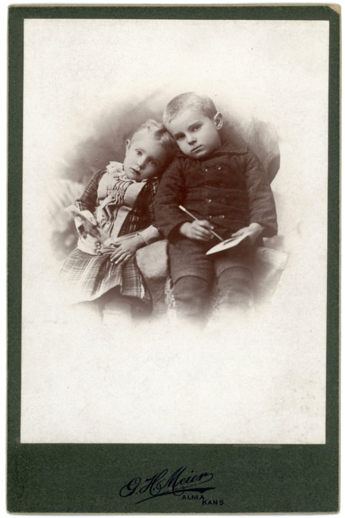 Cabinet card of Minnie and Max Palenske - Page