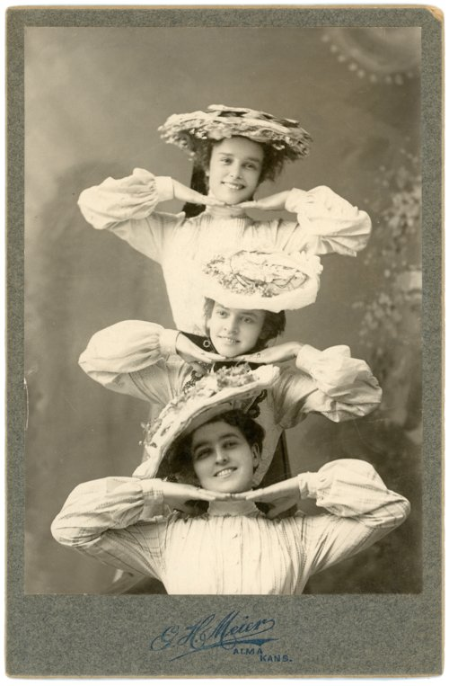 Cabinet card of Minnie Palenske, Rosie Noller, and Laura Thoes - Page