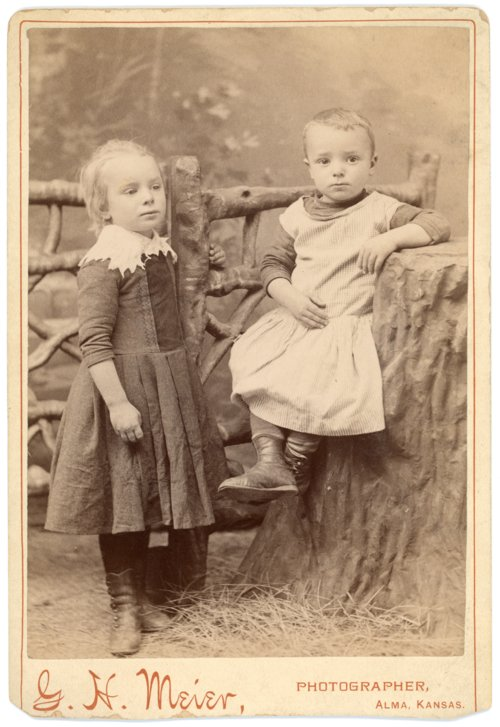 Cabinet card of Minnie and Fred Palenske - Page