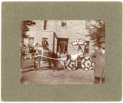 Minnie Palenske riding in parade buggy - Page
