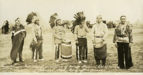 New Mexico Indian chiefs at dedication of Haskell Institute Stadium, Lawrence, Kansas - Page