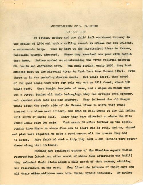 Autobiography of L. Palenske - Page