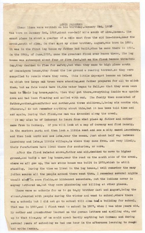 Autobiography of Louis Palenske - Page