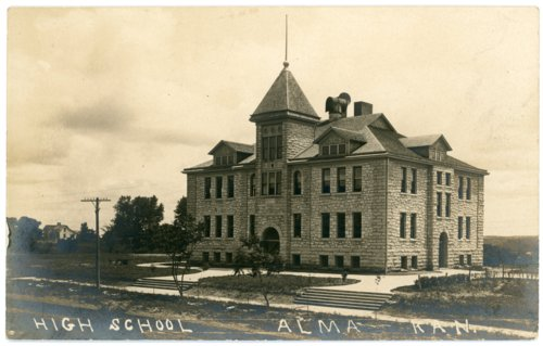 High school at Alma, Kansas - Page