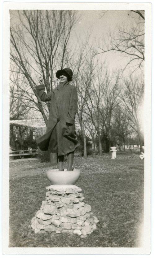 Florence Palenske in park - Page