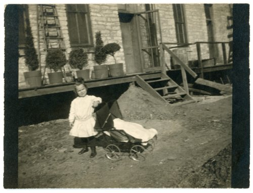 Florence Palenske with doll carriage - Page