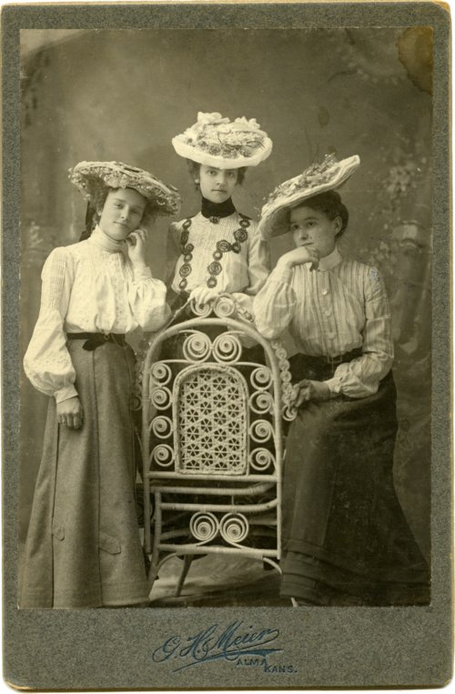 Studio portrait of Minnie Palenske, Rosie Noller, and Laura Thoes - Page