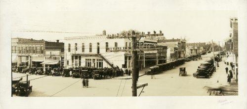 Panorama of business district, Burlington, Kansas - Page