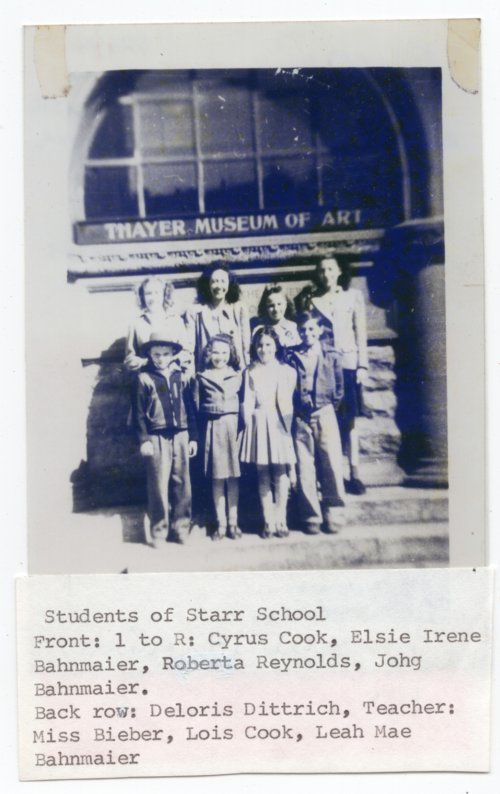 KU Field trip for Students of Starr School, District No. 19, Lecompton township, Douglas County, Kansas - Page
